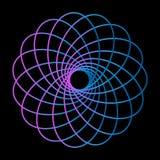 Elemento abstracto de neón del logotipo para el diseño de la decoración Fondo brillante del vector Diseño retro Línea diseño Plan libre illustration