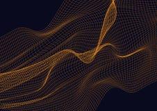 Elemento abstracto del diseño con el fondo anaranjado de las ondas ilustración del vector