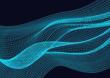 Elemento abstracto del diseño con el fondo de las ondas ilustración del vector