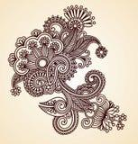 Elemento abstracto del diseño de la alheña Imagenes de archivo