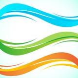 Elemento abstracto del diseño de la onda del color Estilo suave dinámico liso en fondo ligero Fotos de archivo libres de regalías