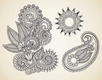 Elemento abstracto del diseño de las flores Fotografía de archivo