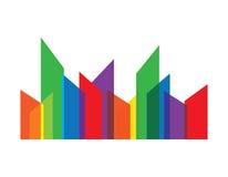 Elemento abstracto del diseño de las propiedades inmobiliarias Fotos de archivo libres de regalías