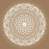 Elemento abstracto del diseño Mandala redonda en vector Plantilla gráfica para su diseño Imagen de archivo