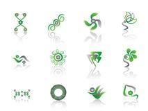 Elemento abstracto verde Stock de ilustración