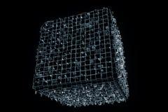 Elemento abstrato da forma no estilo do holograma de Wireframe Rendição 3D agradável Imagens de Stock