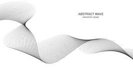Elemento abstrato da onda para o projeto Equalizador da trilha da frequência de Digitas Linha estilizado fundo da arte Ilustração ilustração royalty free