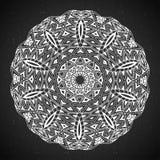 Elemento abstrato do branco do preto do projeto Mandala redonda no vetor Molde gráfico para seu projeto Teste padrão circular Fotos de Stock Royalty Free