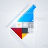 Elemento abstrato do projeto com formas geométricas lustrosas Foto de Stock