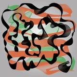Elemento abstrato do projeto da onda Imagem de Stock Royalty Free