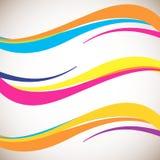 Elemento abstrato do projeto da onda da cor Estilo macio dinâmico liso no fundo claro ilustração royalty free