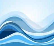 Elemento abstrato do projeto do fundo da onda de água do fluxo Fotografia de Stock