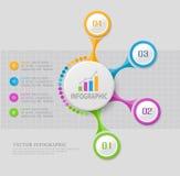 Elemento abstrato do vetor para o negócio Estratégia nas fases etapas Imagem de Stock Royalty Free