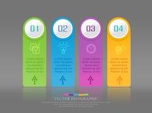 Elemento abstrato do vetor para o negócio Estratégia nas fases etapas Foto de Stock Royalty Free