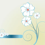 Elemento abstrato floral do projeto Imagem de Stock Royalty Free