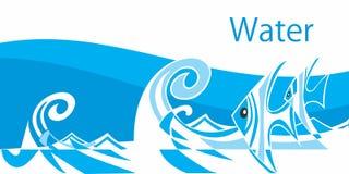 Elemento-acqua cinque Immagine Stock