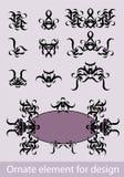 Elemento adornado para el diseño Imagen de archivo libre de regalías