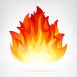 Elemento aislado llama del vector del incendio fuera de control stock de ilustración