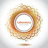 Elemento alaranjado abstrato do laboratório médico. Fotos de Stock