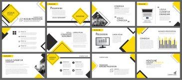 Elemento amarillo para la diapositiva infographic en fondo presentación ilustración del vector