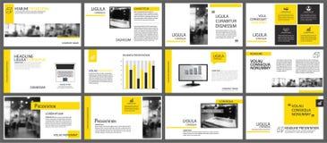 Elemento amarillo para la diapositiva infographic en fondo presentación libre illustration
