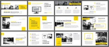 Elemento amarillo y blanco para la diapositiva infographic en fondo RRPP libre illustration