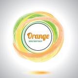 Elemento anaranjado abstracto del círculo. Imágenes de archivo libres de regalías