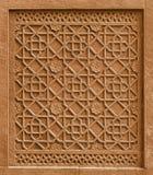 Elemento architettonico decorativo con l'ornamento che taglia in st fotografia stock