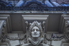 Elemento architettonico sotto forma di voluta Elementi architettonici decorativi del dettaglio fotografia stock libera da diritti