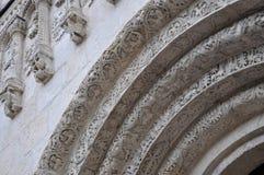 Elemento arquitectónico de la iglesia rusa vieja: Catedral de Dmitrievsky Fotografía de archivo libre de regalías