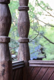 Elemento arquitectónico de madera de la arquitectura rusa Fotografía de archivo
