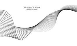 Elemento astratto dell'onda per progettazione Equalizzatore della pista di frequenza di Digital Linea stilizzata fondo di arte Il immagine stock