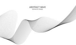 Elemento astratto dell'onda per progettazione Equalizzatore della pista di frequenza di Digital Linea stilizzata fondo di arte Il royalty illustrazione gratis