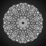 Elemento astratto di bianco del nero di progettazione Mandala rotonda nel vettore Modello grafico per la vostra progettazione Mod Fotografie Stock Libere da Diritti