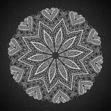 Elemento astratto di disegno Mandala rotonda nel vettore Modello grafico per la vostra progettazione Fotografie Stock Libere da Diritti