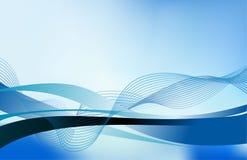 Elemento astratto di progettazione del fondo dell'onda dell'acqua corrente Immagine Stock Libera da Diritti