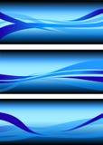 Elemento astratto di progettazione del fondo di vettore di onda dell'acqua corrente Immagine Stock