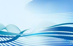 Elemento astratto di progettazione del fondo di vettore di onda dell'acqua corrente Fotografia Stock
