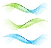 Elemento astratto di progettazione dell'onda Immagini Stock