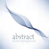 Elemento astratto di progettazione dell'onda di colore Onda blu Fotografia Stock