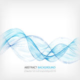 Elemento astratto di progettazione dell'onda di colore Onda blu Immagini Stock Libere da Diritti