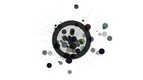 Elemento astratto di progettazione di moto Cerchi e raggi di irradiamento illustrazione vettoriale
