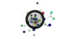 Elemento astratto di progettazione di moto Cerchi e raggi di irradiamento royalty illustrazione gratis