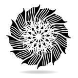 Elemento astratto di progettazione di vettore, modello simmetrico di forma del fiore illustrazione di stock