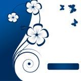 Elemento astratto floreale di disegno Immagine Stock
