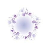 Elemento astratto floreale di disegno Fotografie Stock Libere da Diritti