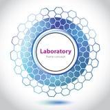 Elemento azul abstrato do laboratório médico. Fotografia de Stock Royalty Free
