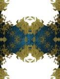 Elemento azul para o projeto Molde para o projeto copie o espaço para o folheto do anúncio ou o convite do anúncio, fundo abstrat Imagens de Stock
