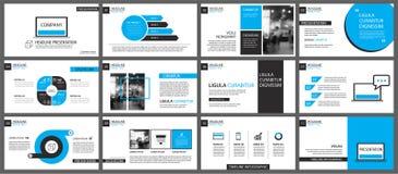 Elemento azul y blanco para la diapositiva infographic en fondo ilustración del vector