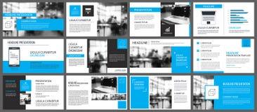 Elemento azul y blanco para la diapositiva infographic en fondo pres stock de ilustración